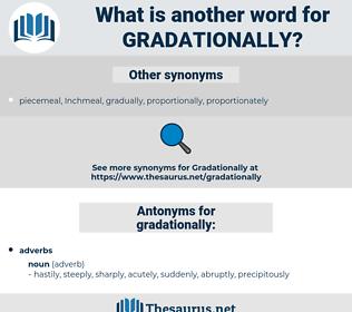 gradationally, synonym gradationally, another word for gradationally, words like gradationally, thesaurus gradationally