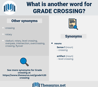grade crossing, synonym grade crossing, another word for grade crossing, words like grade crossing, thesaurus grade crossing