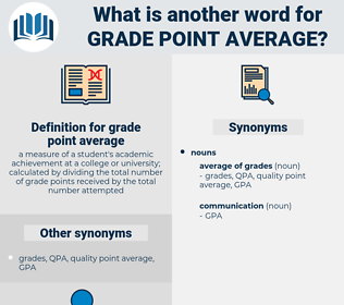 grade point average, synonym grade point average, another word for grade point average, words like grade point average, thesaurus grade point average
