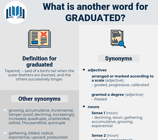 graduated, synonym graduated, another word for graduated, words like graduated, thesaurus graduated