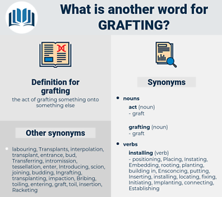 grafting, synonym grafting, another word for grafting, words like grafting, thesaurus grafting