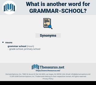 grammar school, synonym grammar school, another word for grammar school, words like grammar school, thesaurus grammar school