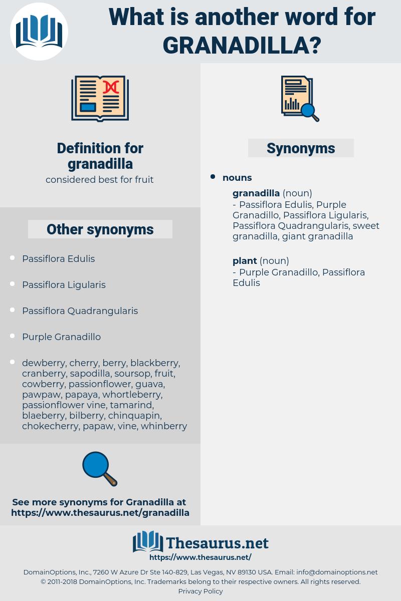granadilla, synonym granadilla, another word for granadilla, words like granadilla, thesaurus granadilla