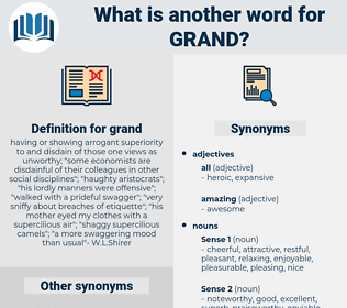 grand, synonym grand, another word for grand, words like grand, thesaurus grand