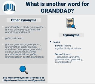 granddad, synonym granddad, another word for granddad, words like granddad, thesaurus granddad