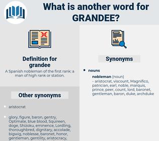 grandee, synonym grandee, another word for grandee, words like grandee, thesaurus grandee