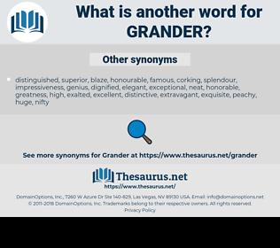 grander, synonym grander, another word for grander, words like grander, thesaurus grander