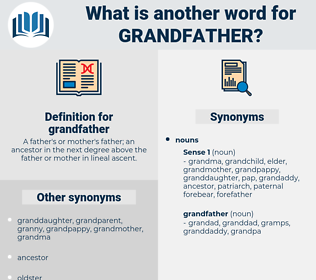 grandfather, synonym grandfather, another word for grandfather, words like grandfather, thesaurus grandfather