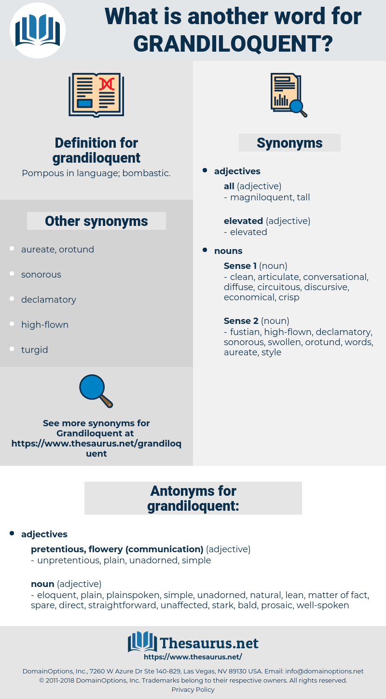 grandiloquent, synonym grandiloquent, another word for grandiloquent, words like grandiloquent, thesaurus grandiloquent