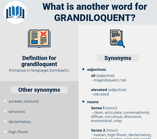 grandiloquent, synonym grandiloquent, another word for grandiloquent, words like grandiloquent, thesaurus grandiloquent