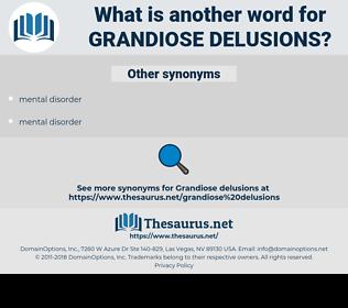 grandiose delusions, synonym grandiose delusions, another word for grandiose delusions, words like grandiose delusions, thesaurus grandiose delusions