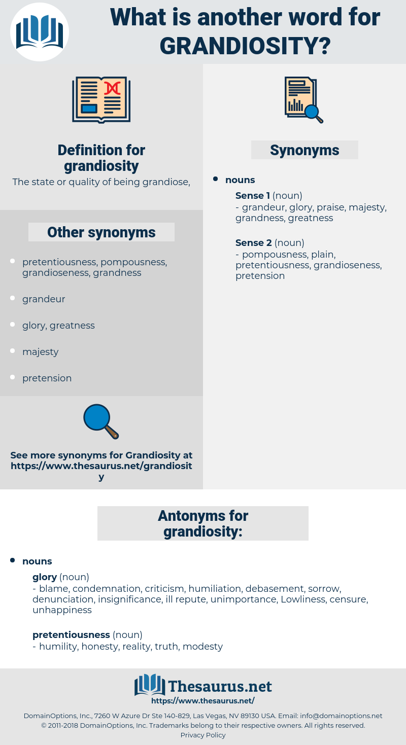 grandiosity, synonym grandiosity, another word for grandiosity, words like grandiosity, thesaurus grandiosity