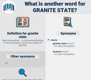 granite state, synonym granite state, another word for granite state, words like granite state, thesaurus granite state