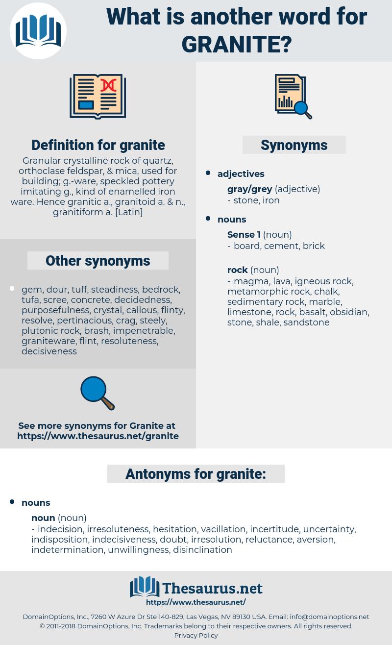 granite, synonym granite, another word for granite, words like granite, thesaurus granite