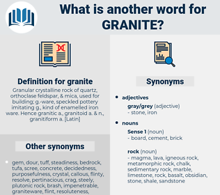 granite, synonym granite, another word for granite, words like granite, thesaurus granite