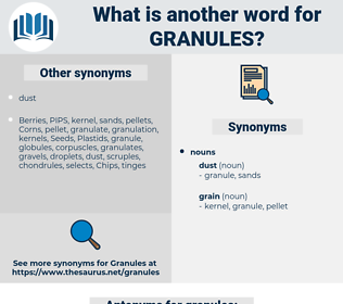 granules, synonym granules, another word for granules, words like granules, thesaurus granules