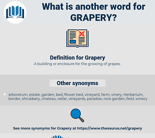 Grapery, synonym Grapery, another word for Grapery, words like Grapery, thesaurus Grapery
