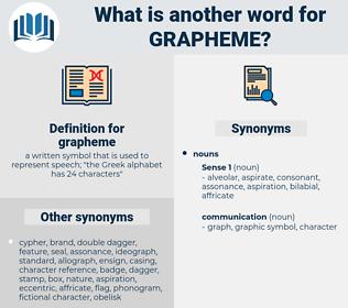 grapheme, synonym grapheme, another word for grapheme, words like grapheme, thesaurus grapheme