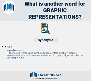 graphic representations, synonym graphic representations, another word for graphic representations, words like graphic representations, thesaurus graphic representations