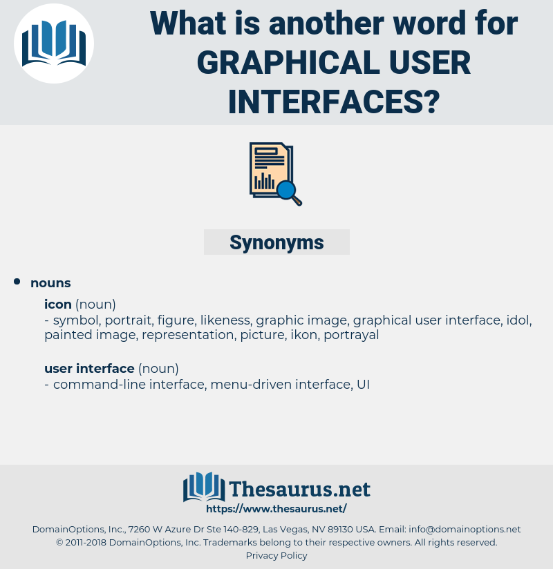 graphical user interfaces, synonym graphical user interfaces, another word for graphical user interfaces, words like graphical user interfaces, thesaurus graphical user interfaces