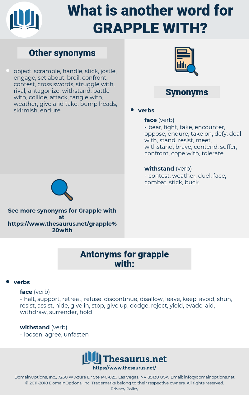 grapple with, synonym grapple with, another word for grapple with, words like grapple with, thesaurus grapple with