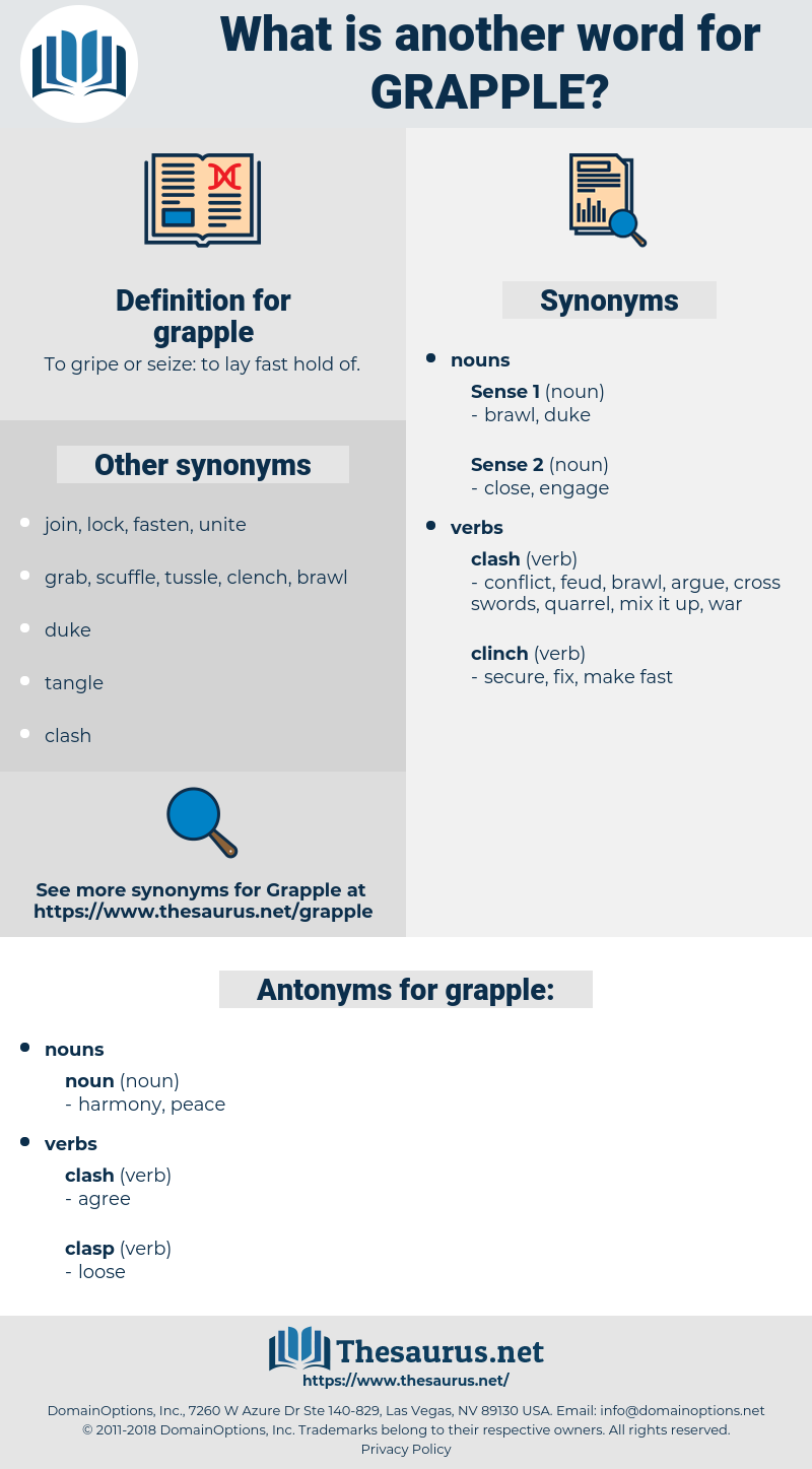 grapple, synonym grapple, another word for grapple, words like grapple, thesaurus grapple