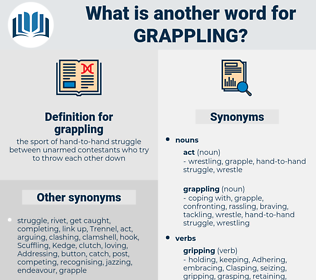 grappling, synonym grappling, another word for grappling, words like grappling, thesaurus grappling