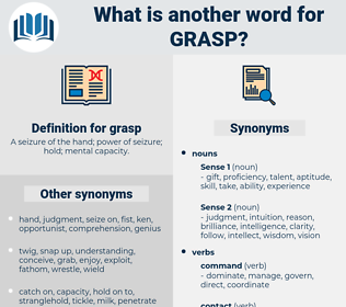 grasp, synonym grasp, another word for grasp, words like grasp, thesaurus grasp