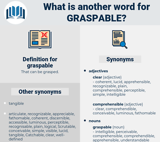 graspable, synonym graspable, another word for graspable, words like graspable, thesaurus graspable
