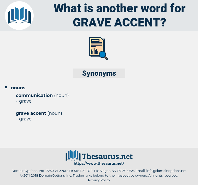 grave accent, synonym grave accent, another word for grave accent, words like grave accent, thesaurus grave accent