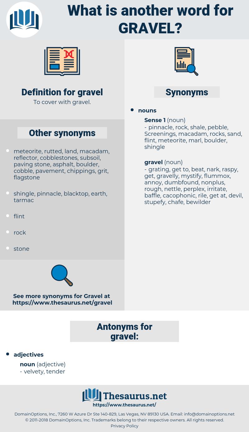 gravel, synonym gravel, another word for gravel, words like gravel, thesaurus gravel