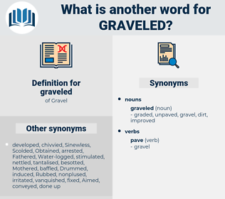 graveled, synonym graveled, another word for graveled, words like graveled, thesaurus graveled