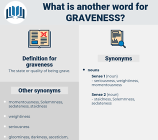 graveness, synonym graveness, another word for graveness, words like graveness, thesaurus graveness