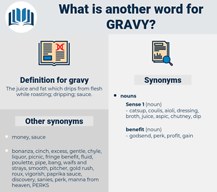 gravy, synonym gravy, another word for gravy, words like gravy, thesaurus gravy