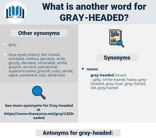 gray-headed, synonym gray-headed, another word for gray-headed, words like gray-headed, thesaurus gray-headed