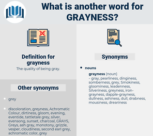 grayness, synonym grayness, another word for grayness, words like grayness, thesaurus grayness