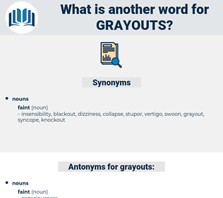 grayouts, synonym grayouts, another word for grayouts, words like grayouts, thesaurus grayouts