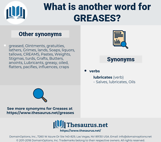 greases, synonym greases, another word for greases, words like greases, thesaurus greases