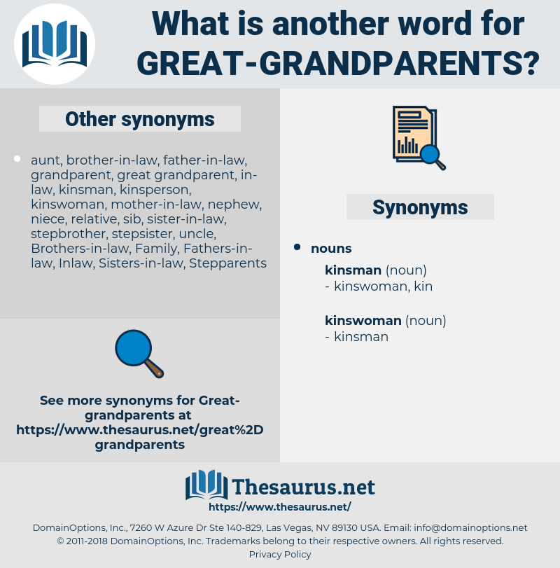 great grandparents, synonym great grandparents, another word for great grandparents, words like great grandparents, thesaurus great grandparents