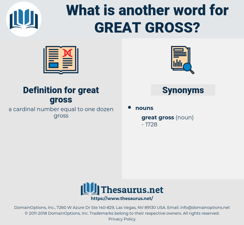great gross, synonym great gross, another word for great gross, words like great gross, thesaurus great gross