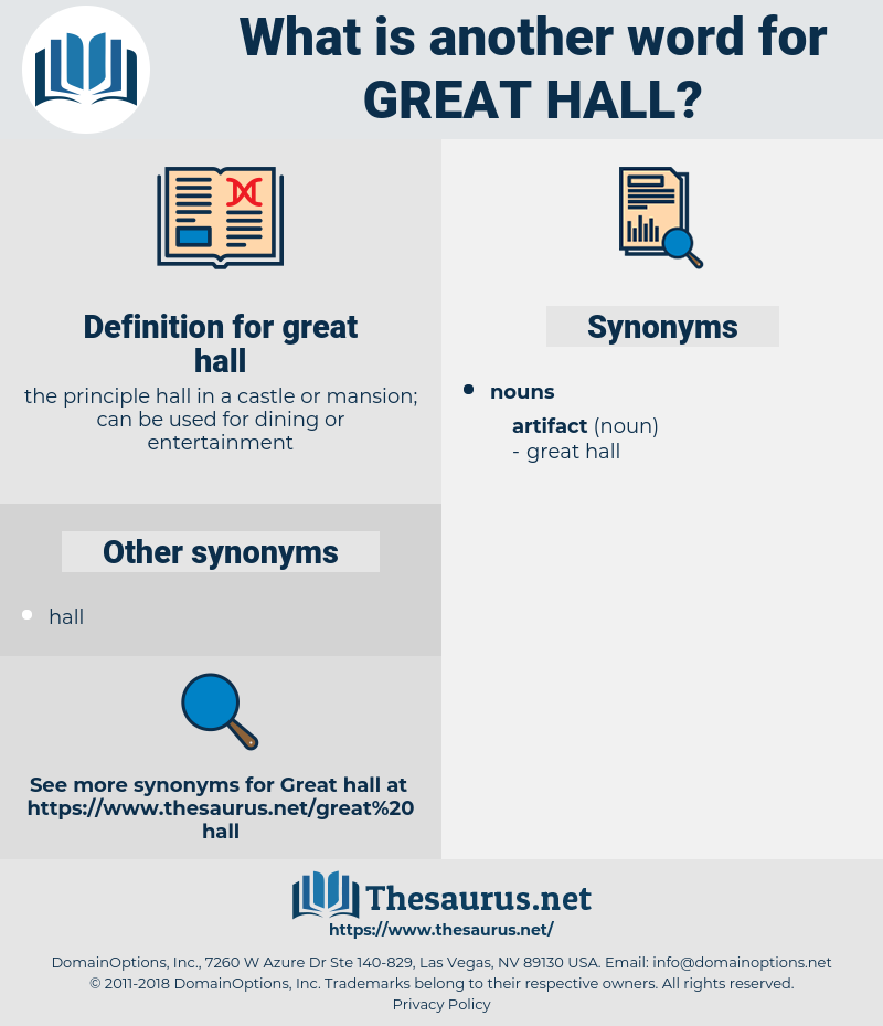 great hall, synonym great hall, another word for great hall, words like great hall, thesaurus great hall