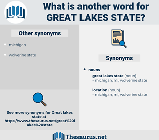 great lakes state, synonym great lakes state, another word for great lakes state, words like great lakes state, thesaurus great lakes state