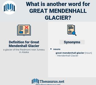 Great Mendenhall Glacier, synonym Great Mendenhall Glacier, another word for Great Mendenhall Glacier, words like Great Mendenhall Glacier, thesaurus Great Mendenhall Glacier