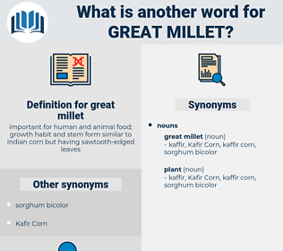 great millet, synonym great millet, another word for great millet, words like great millet, thesaurus great millet
