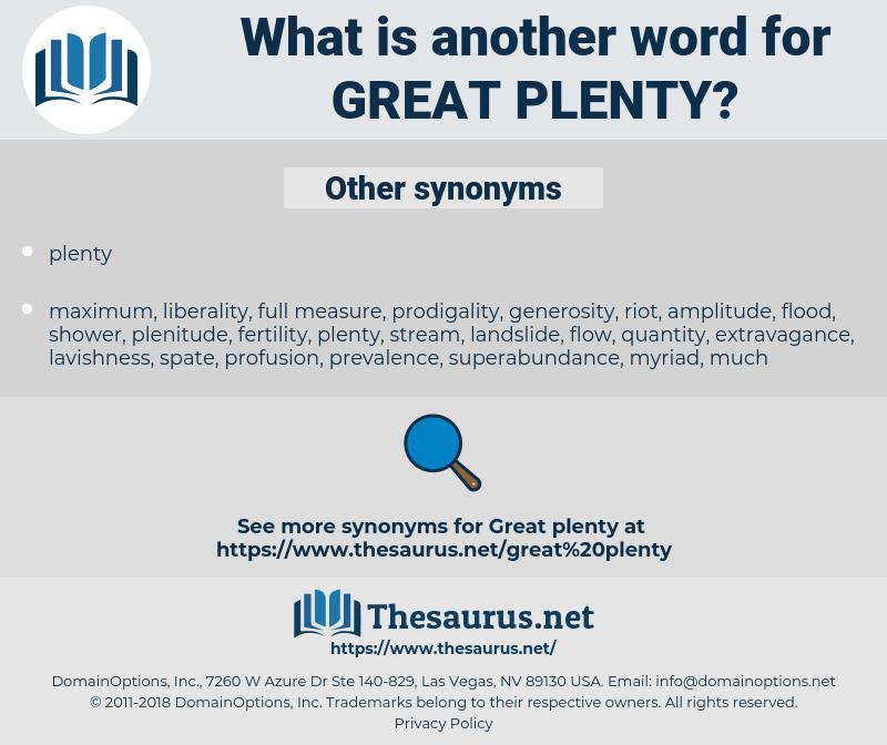 great plenty, synonym great plenty, another word for great plenty, words like great plenty, thesaurus great plenty
