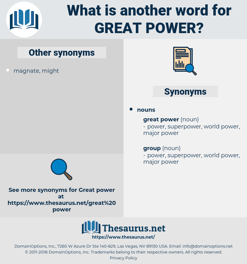 great power, synonym great power, another word for great power, words like great power, thesaurus great power