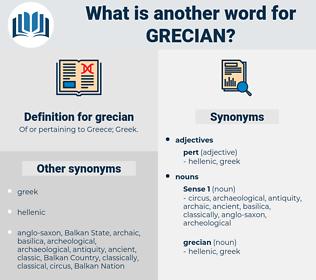 grecian, synonym grecian, another word for grecian, words like grecian, thesaurus grecian