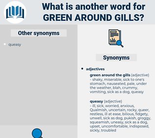 green around gills, synonym green around gills, another word for green around gills, words like green around gills, thesaurus green around gills