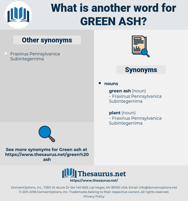 green ash, synonym green ash, another word for green ash, words like green ash, thesaurus green ash