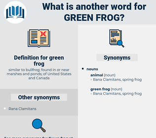 green frog, synonym green frog, another word for green frog, words like green frog, thesaurus green frog
